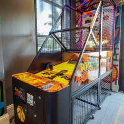 basketball arcade game teens space commercial