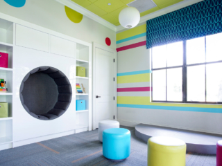 commercial kids room custom cabinetry