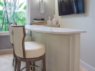 custom bar cabinetry with tv