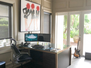 custom cabinetry in home office