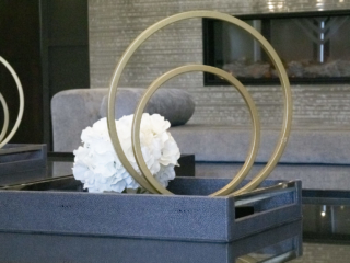 details of accents on coffee table