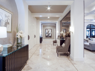 high end commercial hall way design