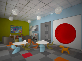 render of kids space in oaks clubhouse